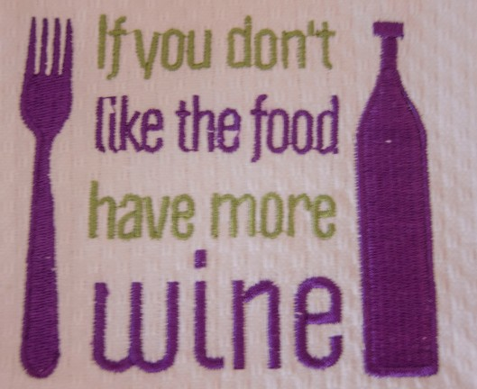 dont like food drink wine