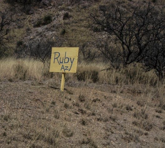 ruby arizona wooden sign
