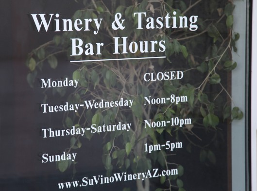 su vino winery hours