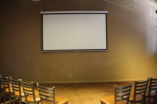 the viewing room in Pig and Pickle