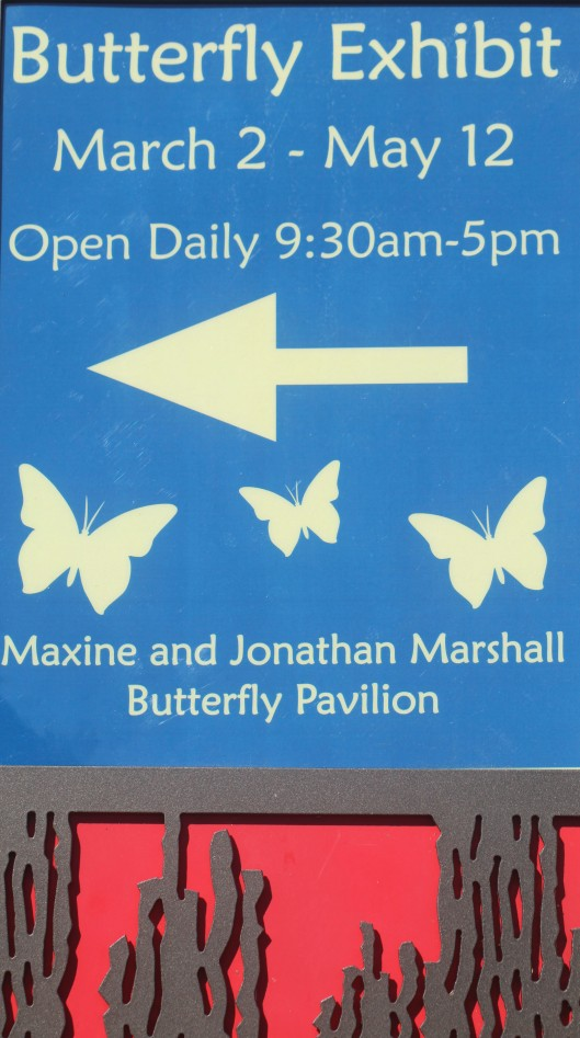 butterfly exhibit signage