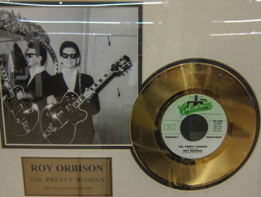 orbison gold plated record