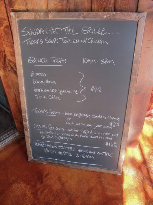 Blackboard with brunch info
