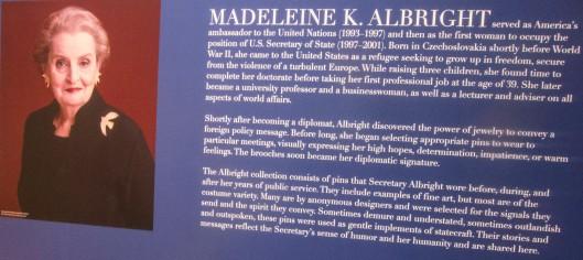 madeleine albright bckground