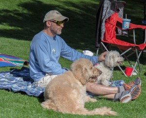 man and two dogs sunday afair