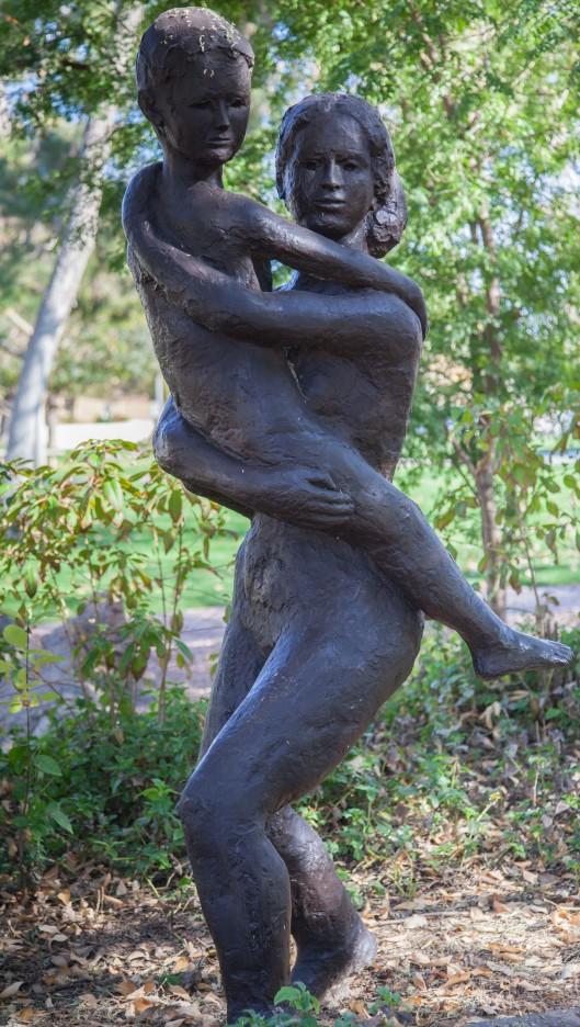mother son sculpture