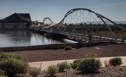 pedistrian bridge tempe arts