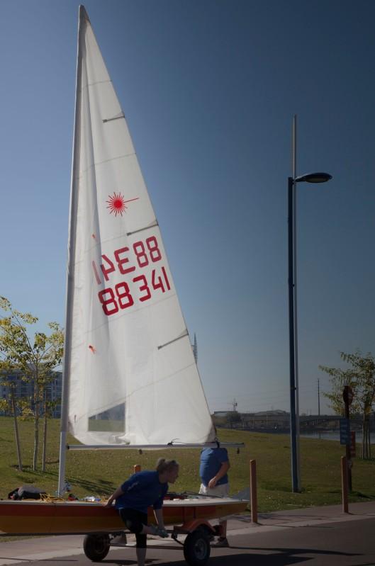 preparing to sail tempe lake