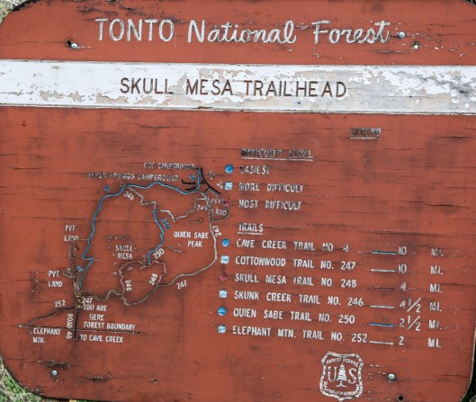 skull mesa trailhead