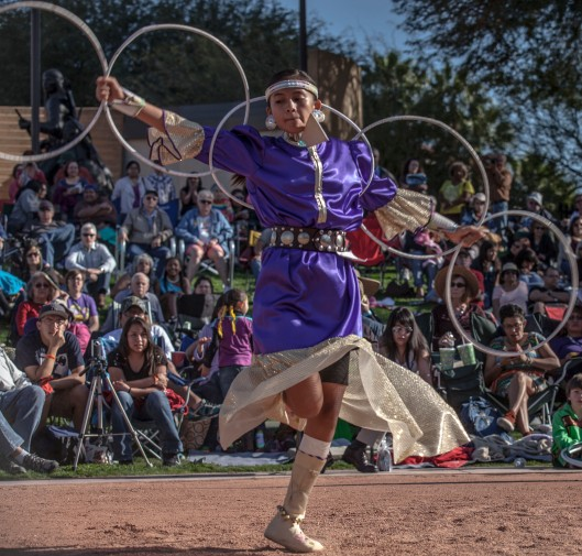 portrait hoop dancer w hoops