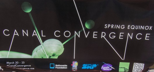 canal convergance signage