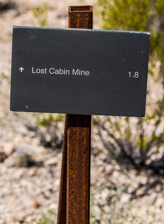lost cabin mine signage