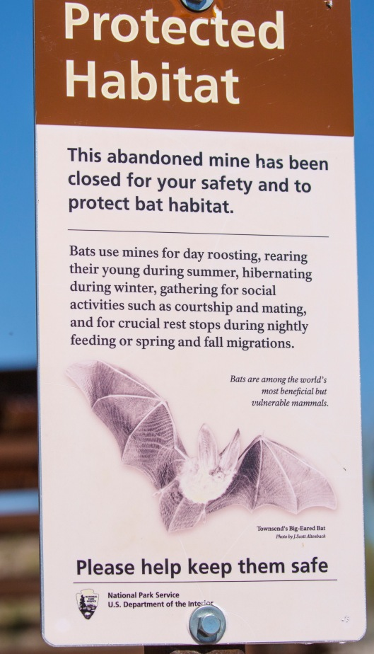 mine protection sign