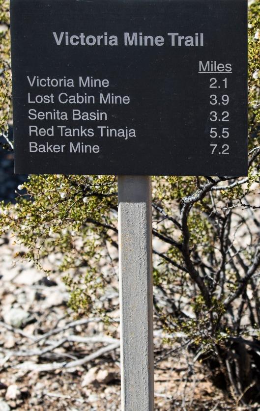 victoria mine trail signage
