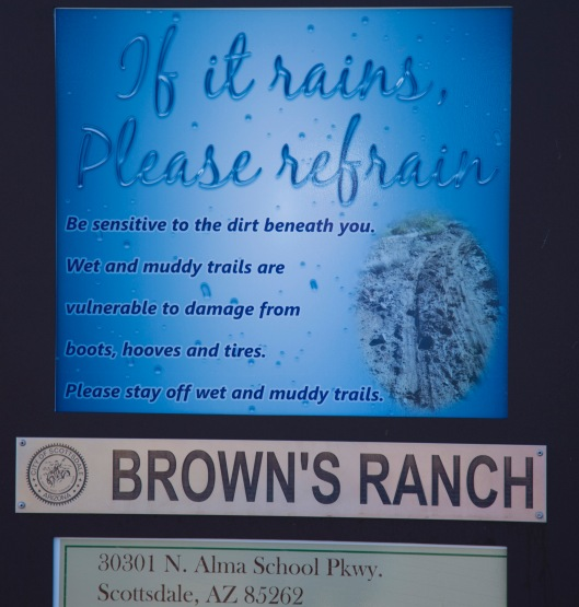 brown's ranch signage